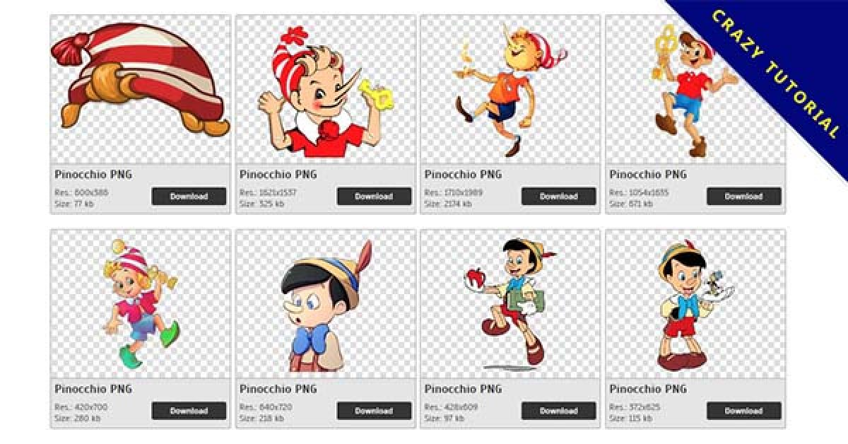 48 Pinocchio PNG images free download