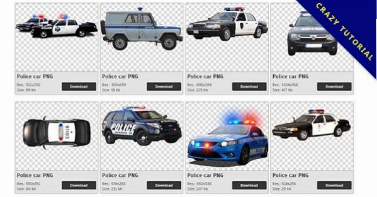 35 Police car PNG images are available for free download