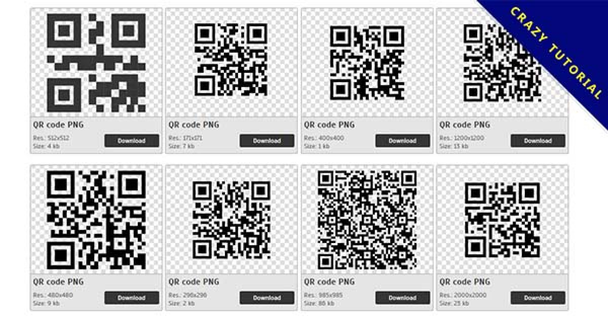 40 QR codes PNG images for free download