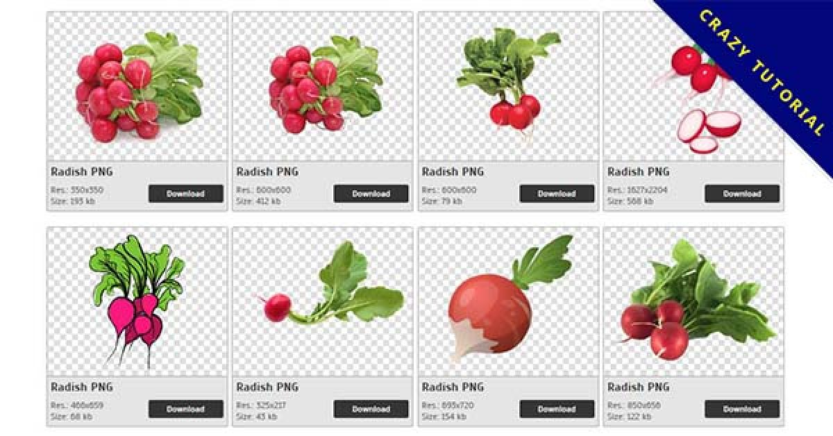 56 Radish PNG image collection free download