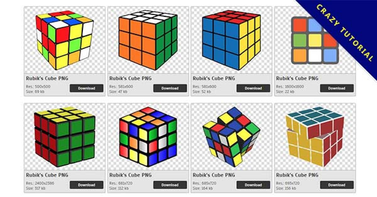 56 Rubik's Cube PNG image collection free to download