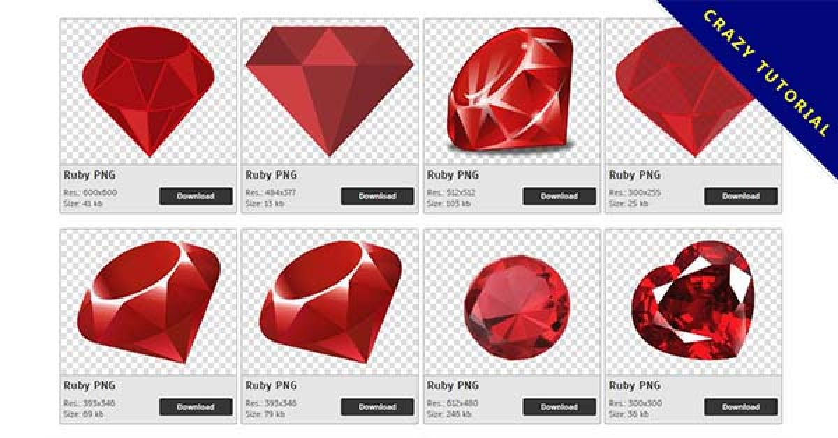48 Ruby PNG image collections for free download