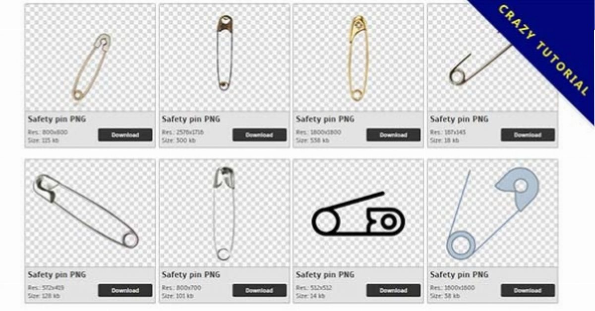 48 Safety pin PNG images are free to download