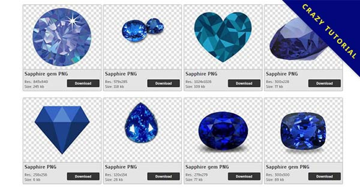 32 Sapphire PNG image collection for free download