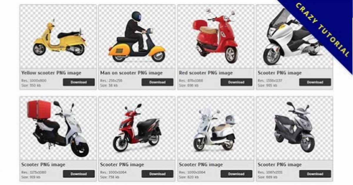 63 Scooter PNG images available for free download