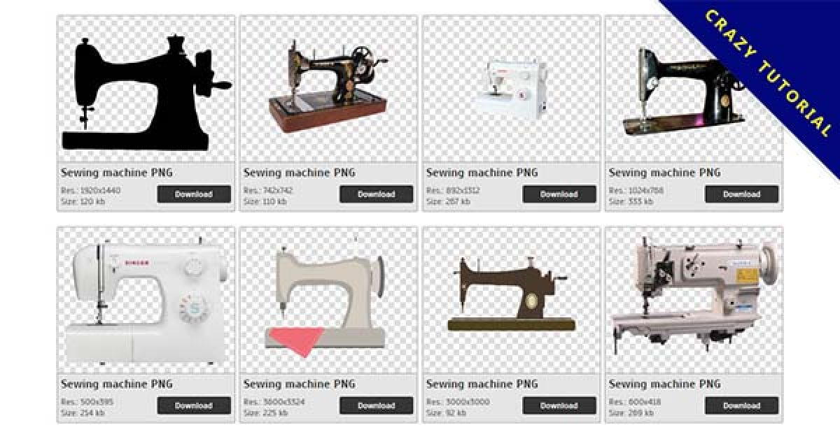 70 Sewing machine PNG images free download