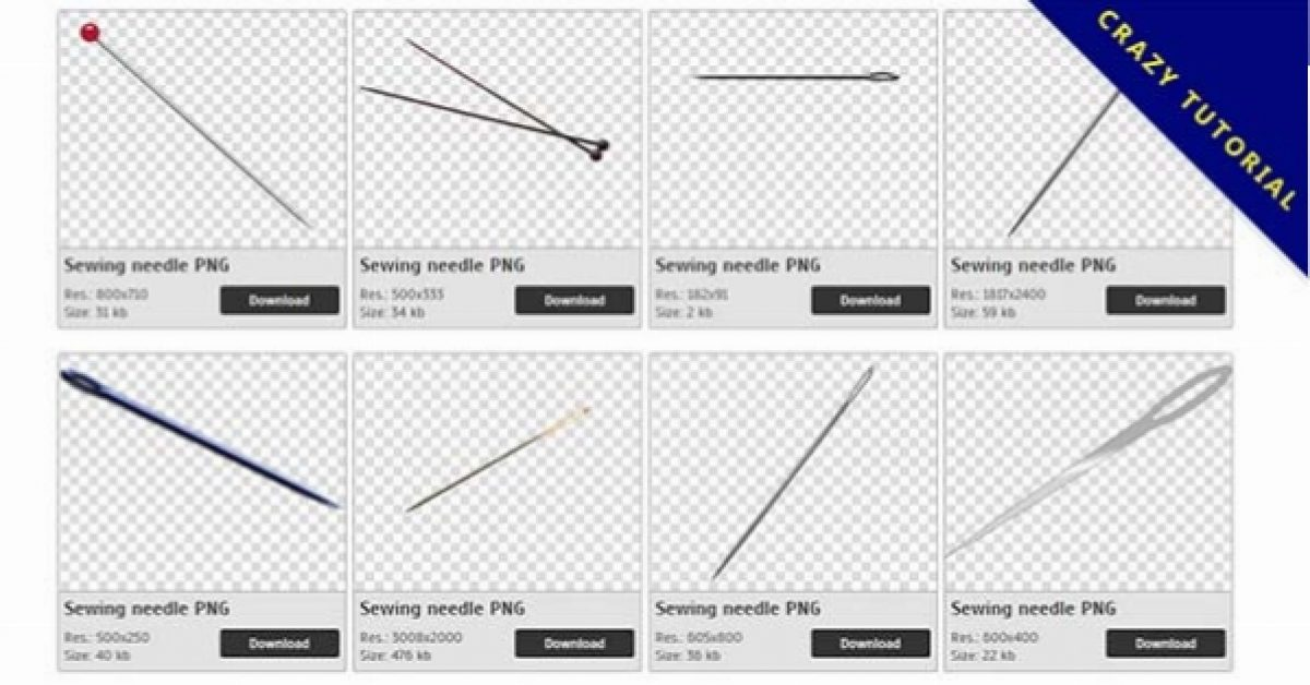 30 Sewing needle PNG images free download