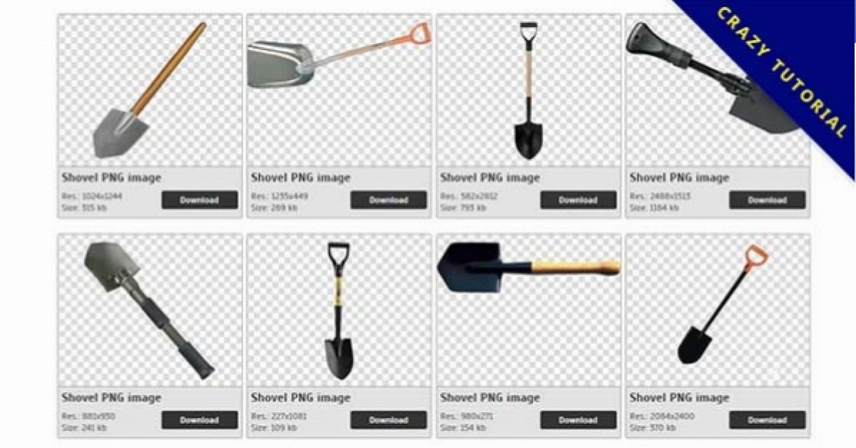 26 Shovel PNG image collection as a free download