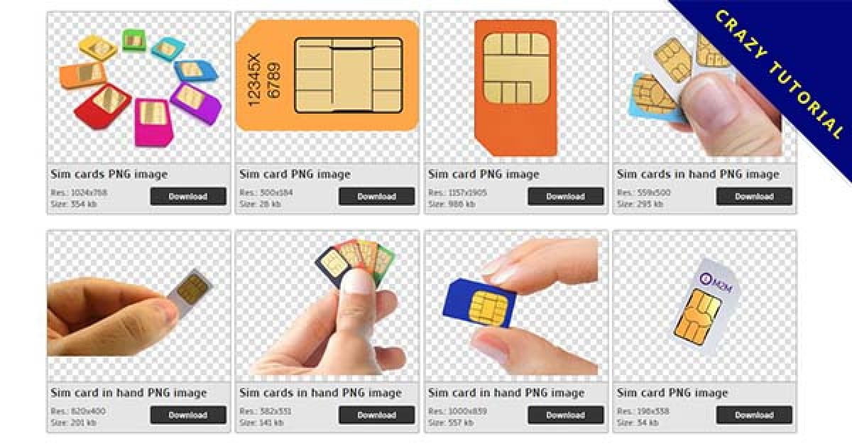 22 Sim Cards PNG images for free download