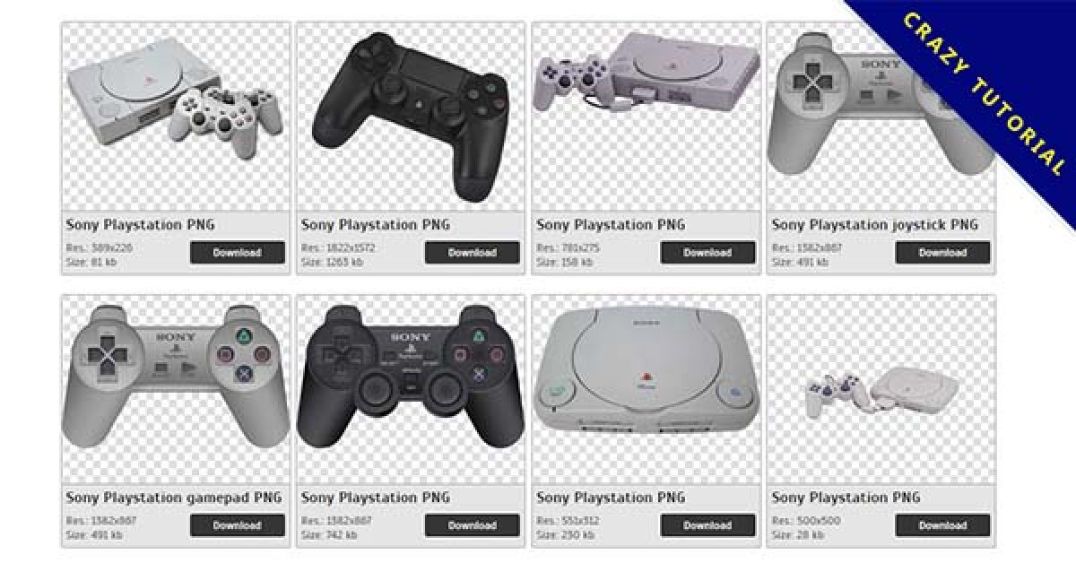 24 Sony Playstation PNG image collection for free download