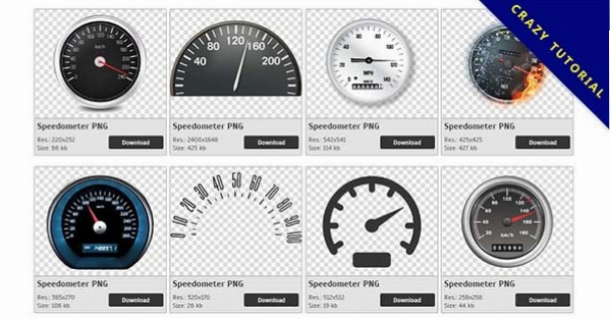 52 Speedometer PNG images are available for free download