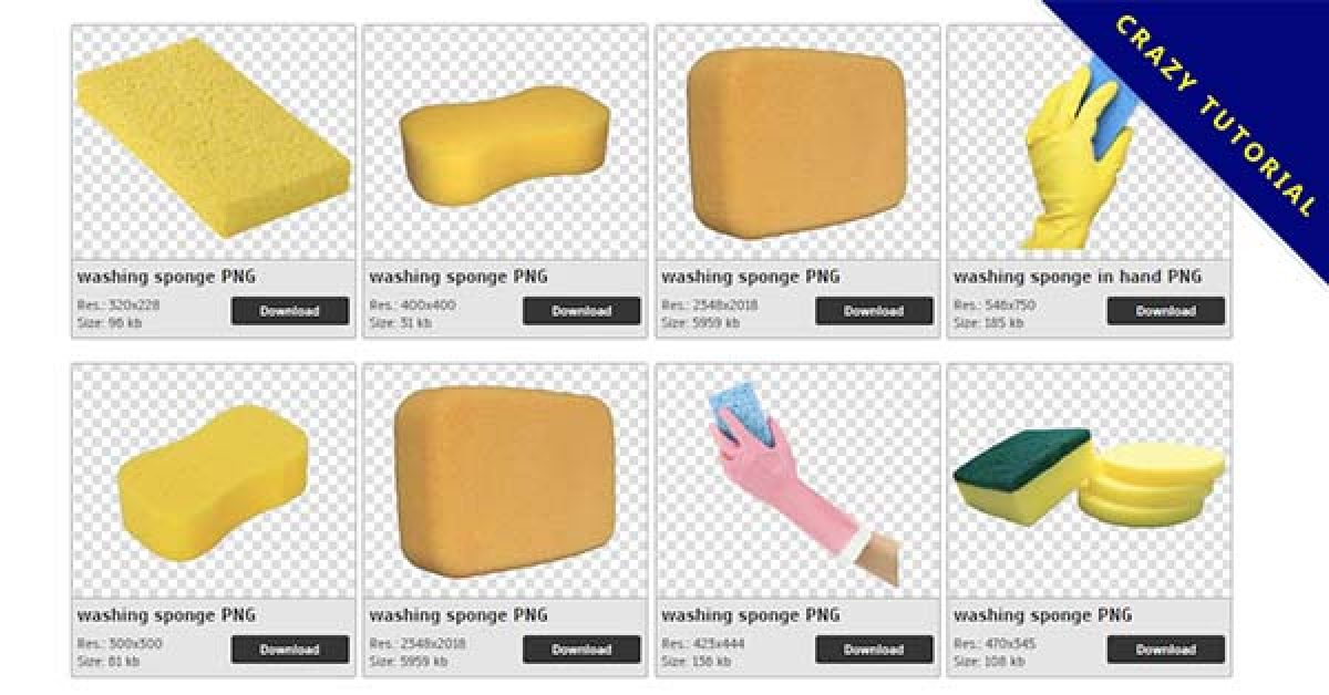 90 Sponge PNG images are available for free download
