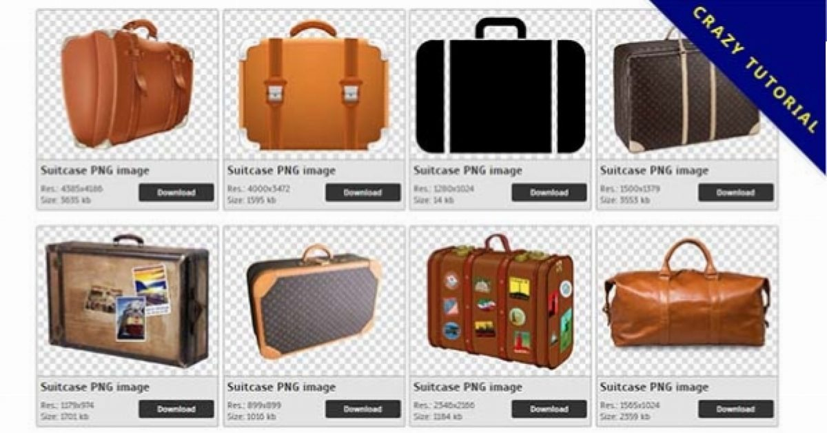 30 Suitcase PNG images are free to download