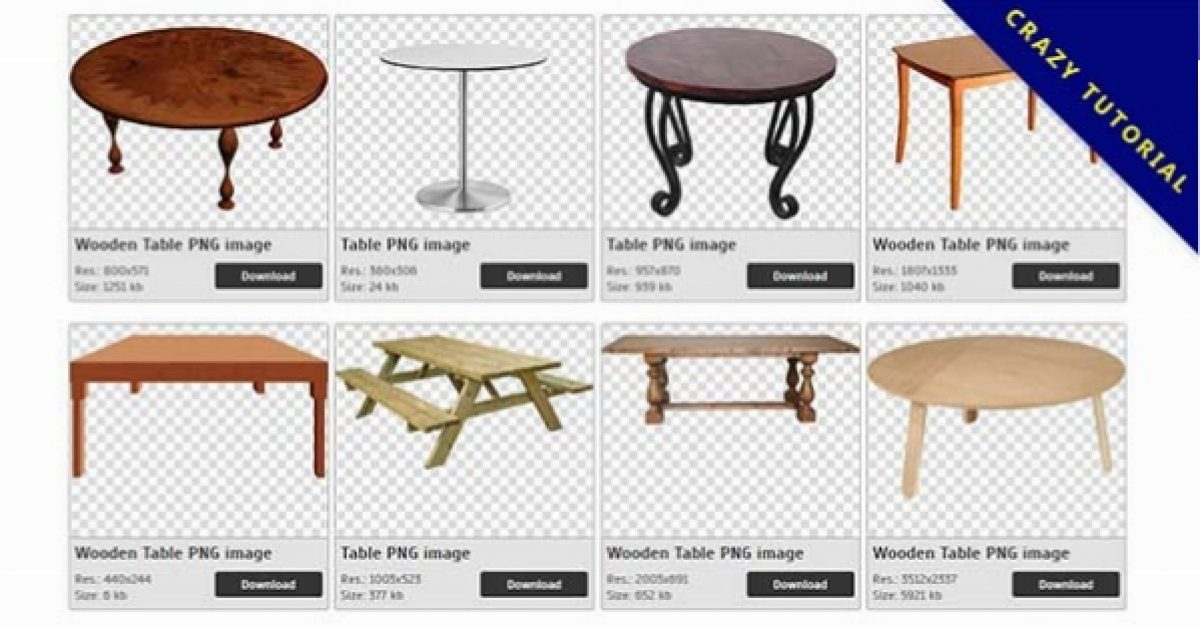 40 Table PNG images are free to download