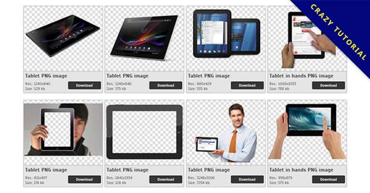 52 Tablet PNG images are free to download