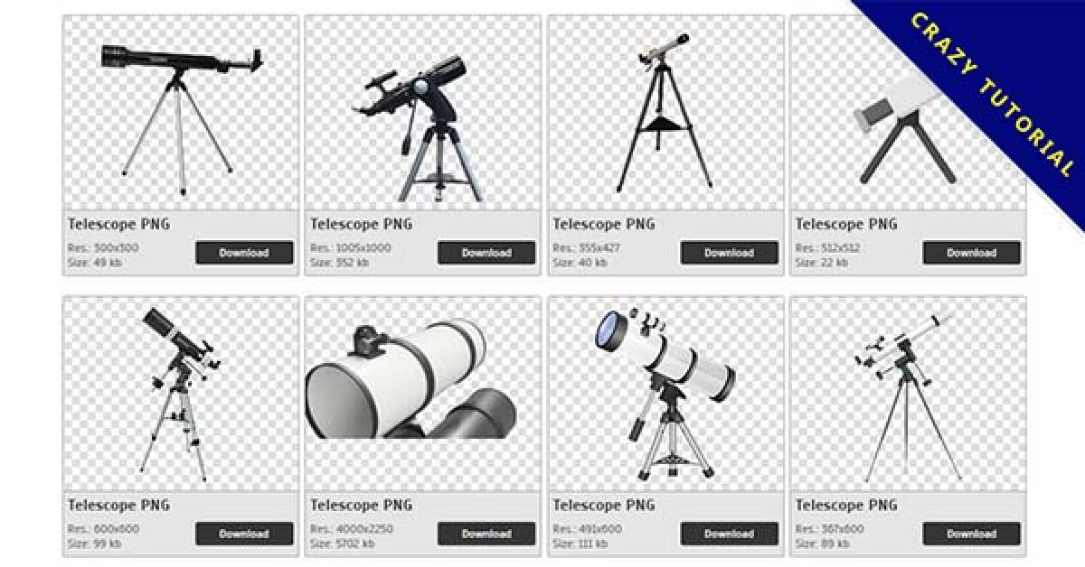114 Telescope PNG image collections are available for free download
