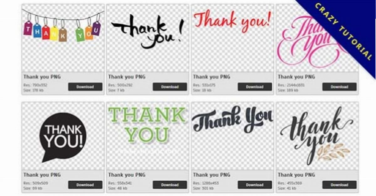 141 Thank you PNG image collection for free download