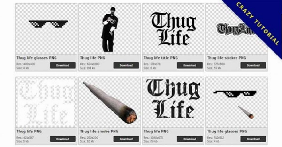 40 Thug life PNG images for free download