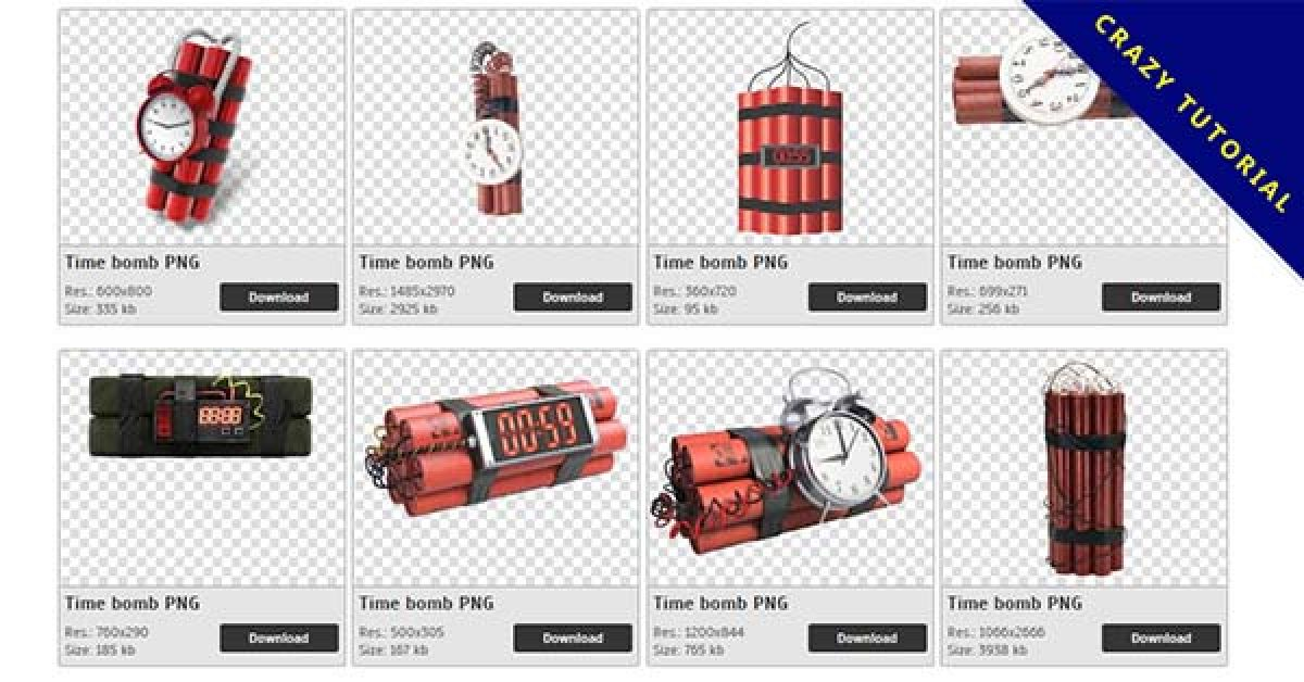 14 Time bomb PNG images for free download