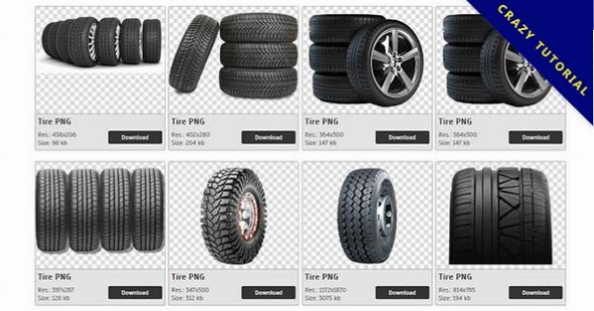 73 Tires PNG images collected for free download