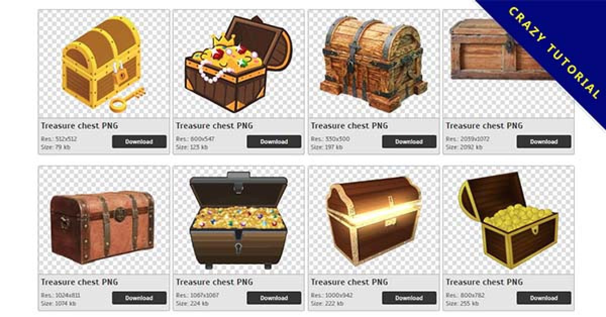 160 Treasure chest PNG image collections for free download