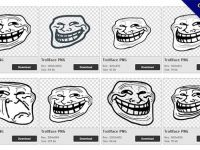 48 Trollface PNG image collection for free download