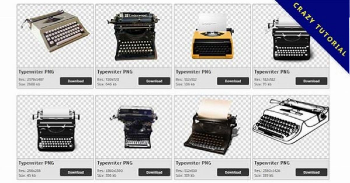 98 Typewriter PNG images Collection Free Download