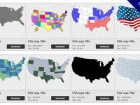 27 USA map PNG image collection for free download