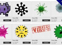 54 Virus PNG images free to download