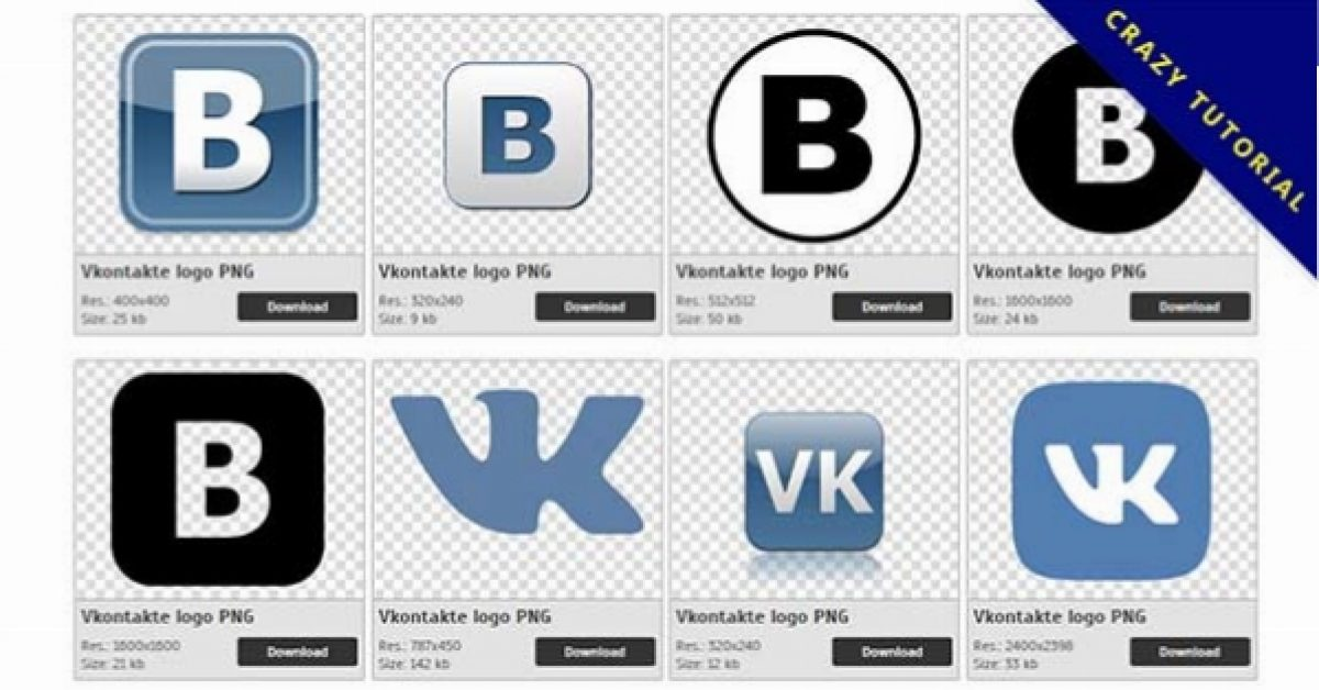 32 Vkontakte logo PNG images for free download