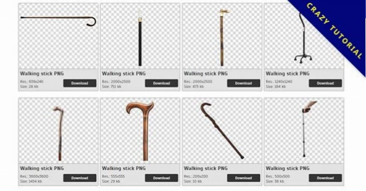 35 Walking stick PNG image collection for free download