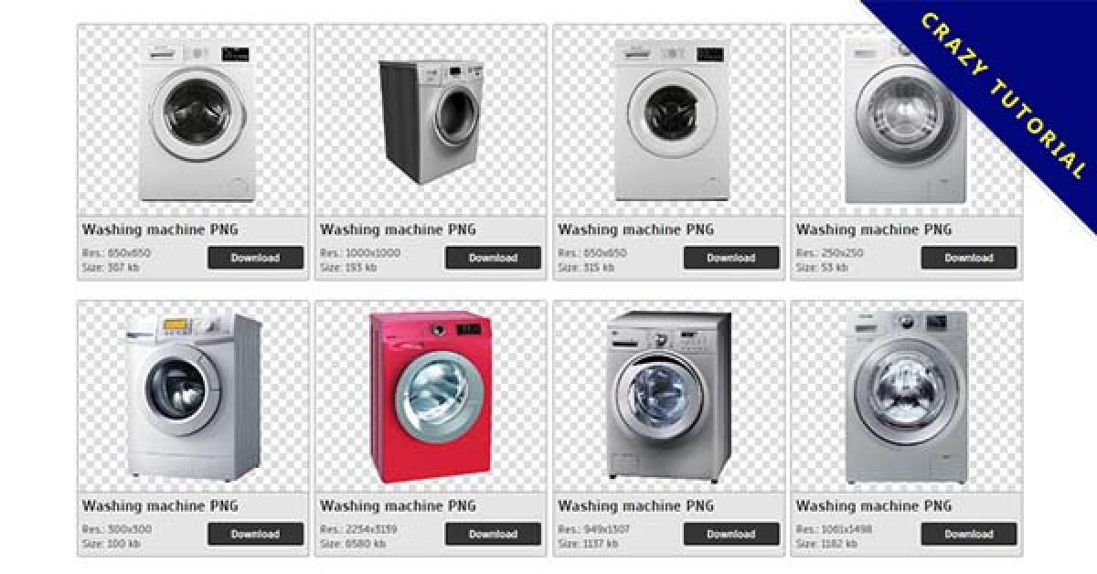 49 Washing machine PNG image collections are available for free download