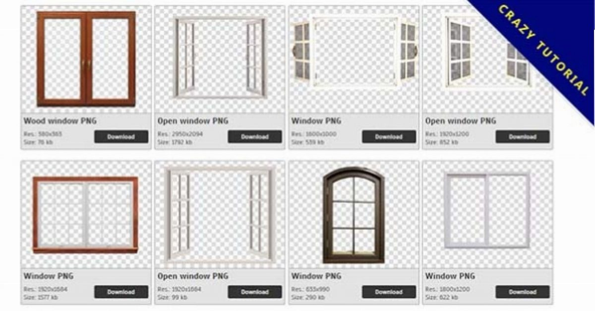 71 Windows PNG image collection for free download