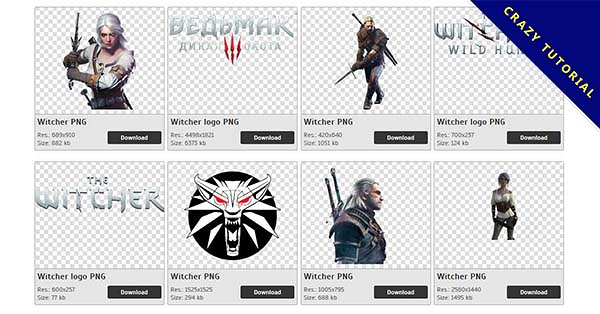 62 Witcher PNG images for free download