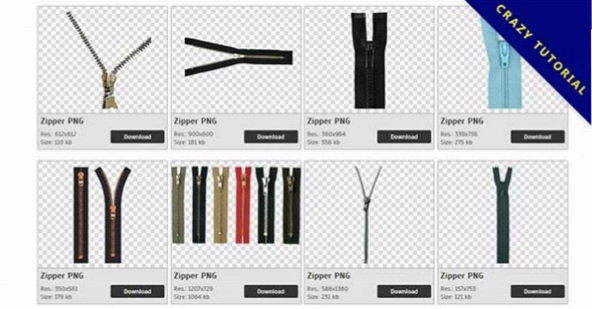 55 Zipper PNG images Collect Free Download